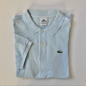 Men's Lacoste Short Sleeve Light Blue Polo Shirt
